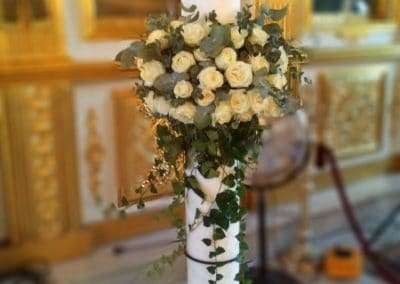 Wedding Candles white roses