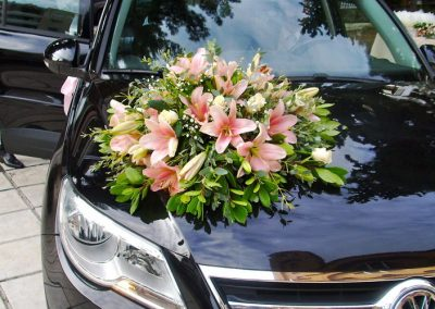 Wedding Car pink lilium