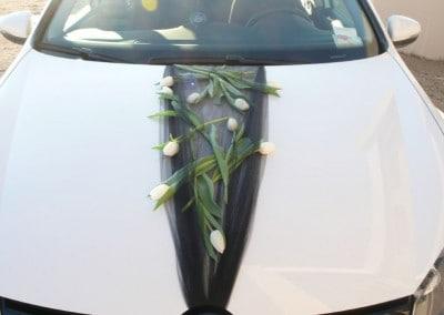 Στολισμός νυφικοού αυτοκινλητου με τουλίπες