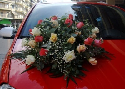 Wedding car arrangement