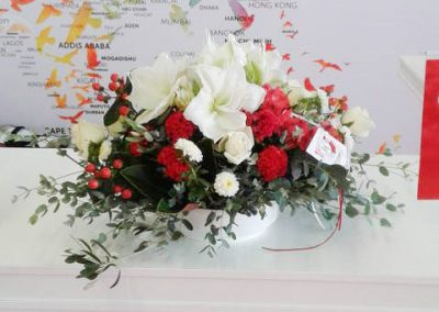 deco flowers turkish airlines stand expo moustakas flowers
