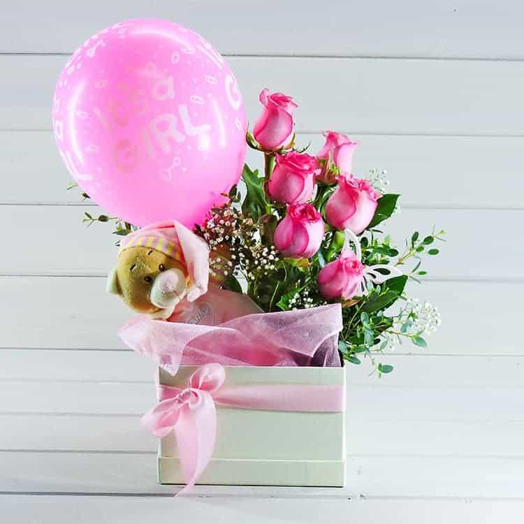 δωρο για νεογεννητο κοριτσάκι λουλουδια
