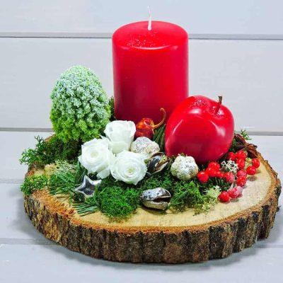 Χριστουγενιάτικη κατασκευή με κερί