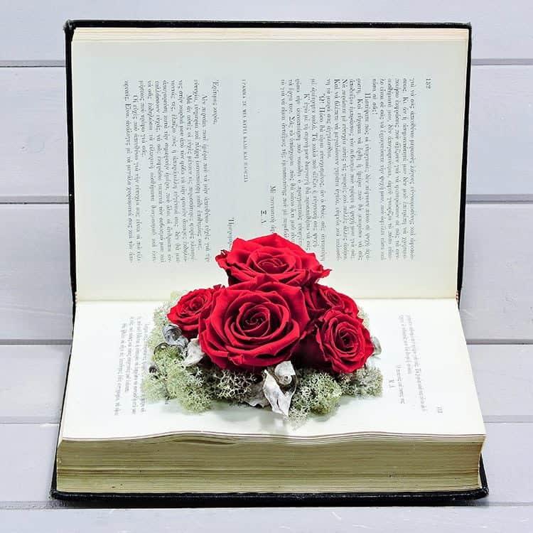 βιλβλιο με κοκκινα τριαντάφυλλα forever παντοτινά τριαντάφυλλα