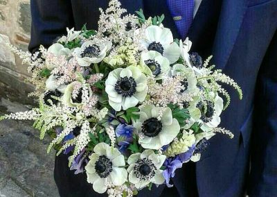 anemones wedding bouquet