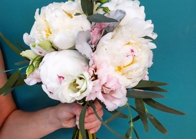 Paeonies bridal bouquet