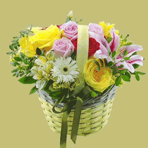 Κσλάθι με λουλούδια
